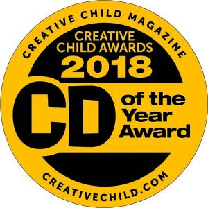Creative Child Awards 2018 CD of the Year Award for Shoebox Town CD for Kids